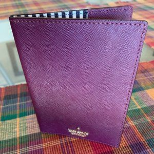 Cameron Street Travel Passport Holder in Deep Plum